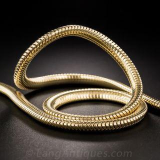 Mid-Century Gold Serpentine Necklace