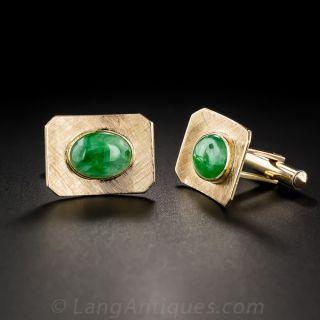 Mid-Century Jade Cufflinks - 3