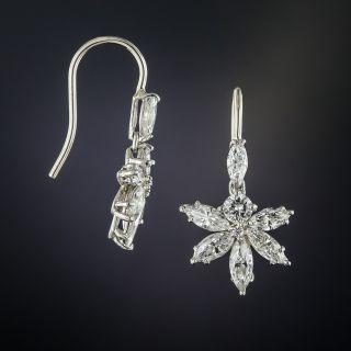 Mid-Century Marquise Diamond Earrings