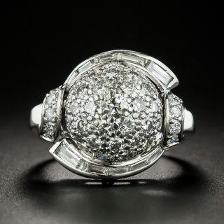 Mid-Century Pavé Diamond Ring - 1