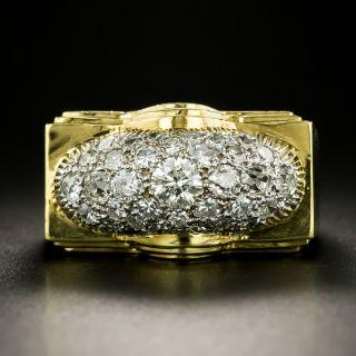 Mid-Century Pavé Diamond Ring - 2