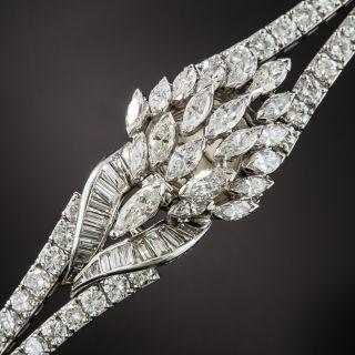 Mid-Century Platinum Diamond Bracelet Watch