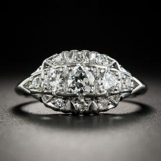 Mid-Century Platinum Three-Stone Diamond Ring - 2