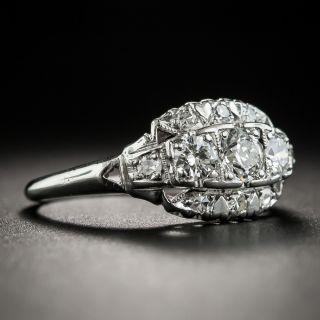 Mid-Century Platinum Three-Stone Diamond Ring