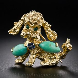 Mid-Century Poodle Pin
