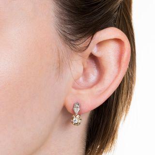 Mid-Century Russian Diamond Earrings
