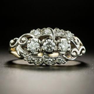Mid-Century Three-Stone Diamond Ring - 2