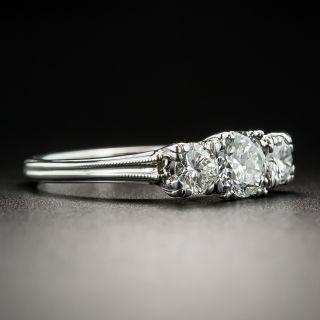 Mid-Century Three-Stone Diamond Ring By Jabel