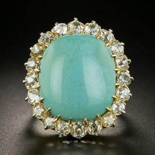 Mid-Century Turquoise and Diamond Ring - 2