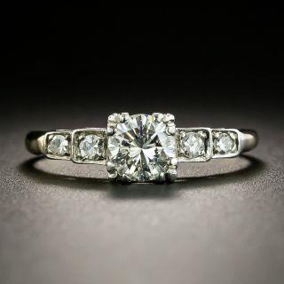 Mid-Century Two-Tone .58 Carat Diamond Engagement Ring - GIA - 1
