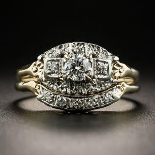Mid-Century Two-Tone Diamond Wedding Set - 1