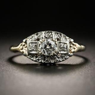 Mid-Century Two-Tone Diamond Wedding Set