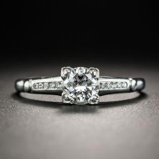 Mid-Century Vintage .67 Ct. Diamond Platinum Engagement Ring - 1