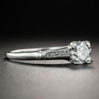 Mid-Century .67 Carat Diamond Platinum Engagement Ring