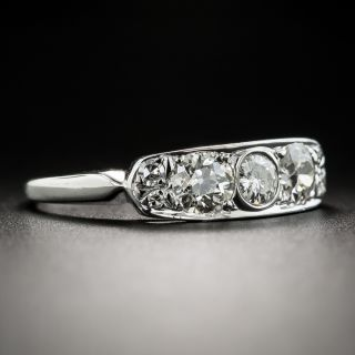 Mid-Century Vintage Diamond Band Ring by Delta