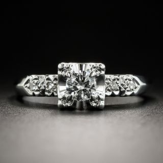 Mid-Century Vintage Diamond Wedding Set