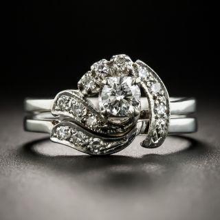 Mid-Century Vintage Diamond Wedding Set - 1