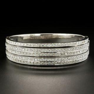 Modern Five Row Diamond Bangle Bracelet - 1
