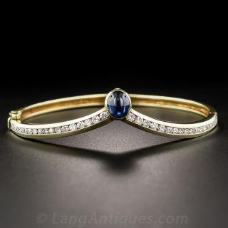 Modern Saphhire and Diamond Bracelet