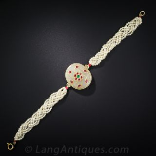 Moghul Style Gem and Pearl Bracelet