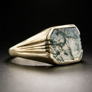 Moss Agate Unisex Ring by Allsopp Brothers