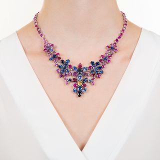 Multi-Color 81.30 Carat Sapphire Necklace