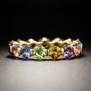 Multi-Color Gemstone Eternity Band, Size 6 1/2 - 3