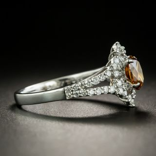 Natural .67 Carat Cinnamon Colored Diamond Ring - GIA