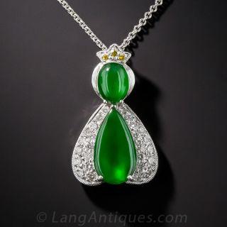 Natural Burma Jadeite Pendant