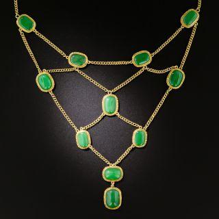 Natural Burmese Jadeite Festoon Necklace