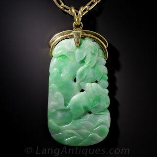 Natural Carved Jade Pendant