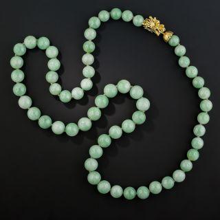 Natural Jade Bead Necklace