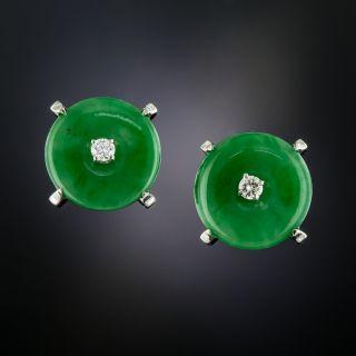 Natural Jade Diamond 'Bi' Earrings - 1