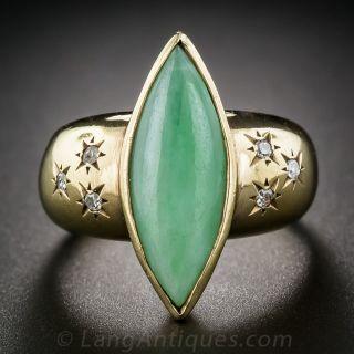 Natural Jade Retro Dinner Ring