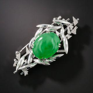 Natural Jadeite Brooch - 1