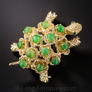 Natural Jadeite Turtle Brooch - 2