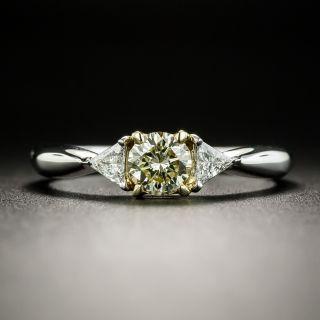 Natural Yellow .43 Carat Diamond Engagement Ring - 2