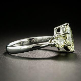 Natural Yellow Diamond Three-Stone Ring - GIA