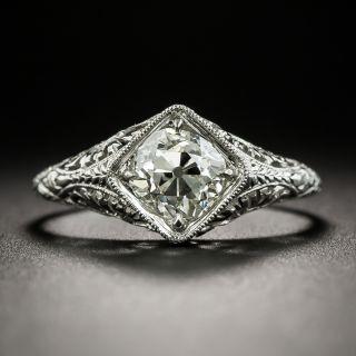 Neoclassical 1.02 Ct. Diamond Platinum Diamond Solitaire - 2