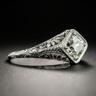 Neoclassical 1.02 Carat  Diamond Platinum Solitaire