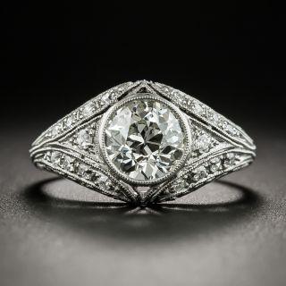 Neoclassical 1.48 Carat Diamond Platinum Engagement Ring - GIA K SI1 - 2