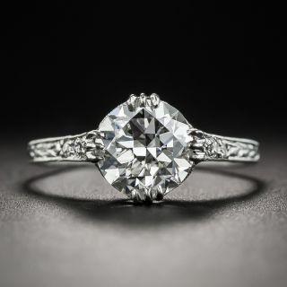 Neoclassical 1.57 Carat Diamond Platinum Engagement Ring - GIA G VVS2 - 1