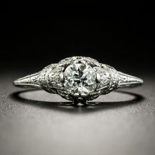 Neoclassical .45 Carat Diamond Solitaire Engagement Ring, Circa 1920 - 2