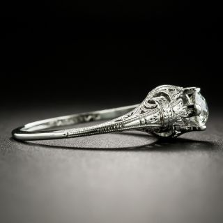 Neoclassical .45 Carat Diamond Solitaire Engagement Ring, Circa 1920