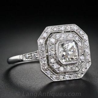 Octagonal Antique Diamond Ring