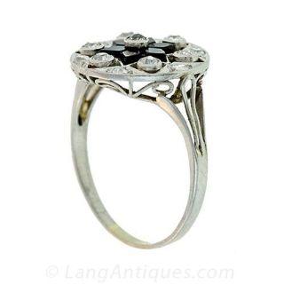 Onyx and Diamond Ring, Circa 1915