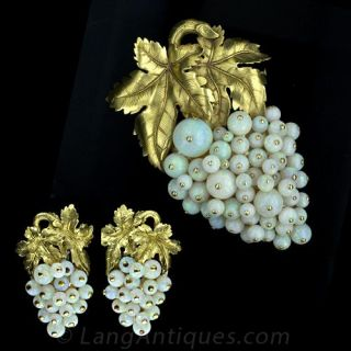 Opal Earrings and Pin Suite - 1