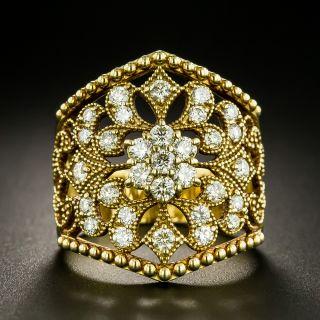 Ornate Openwork Diamond Ring - 2