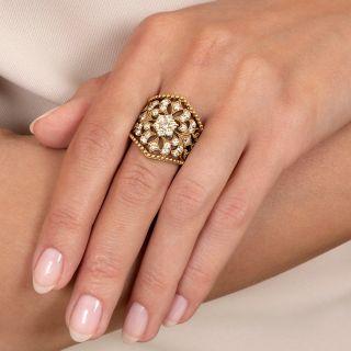 Ornate Openwork Diamond Ring