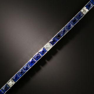 Oscar Heyman Art Deco No-Heat 9.75 Carat Sapphire and Diamond Bracelet - 4